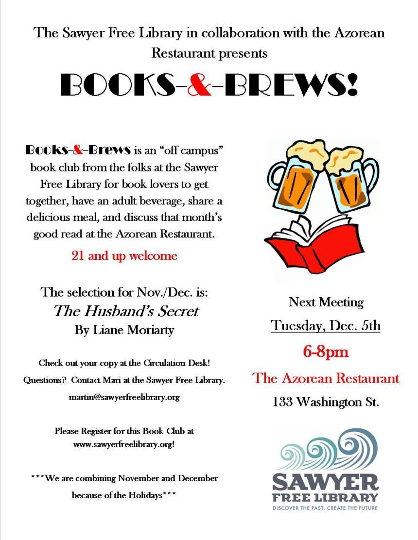 Books and Brews November 2017 flyer