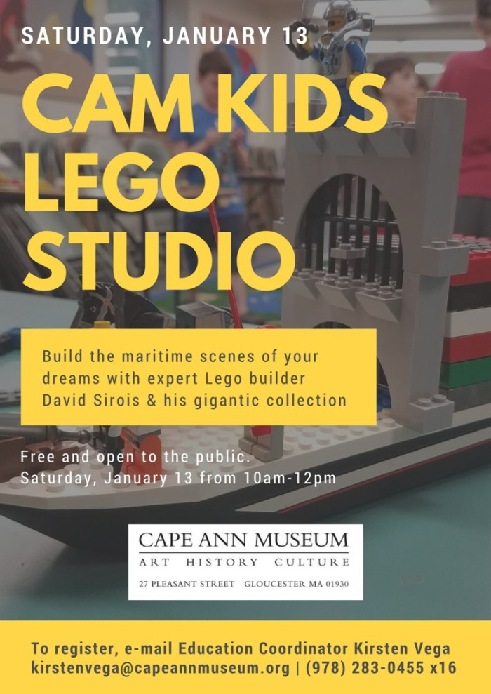 Cape Ann Museum January 13 Lego program