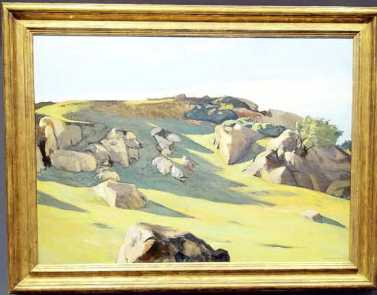 EDWARD HOPPER Cape Ann Granite oc 29 x 40 1928 est 6 to 9 mil private collection Rockefeller