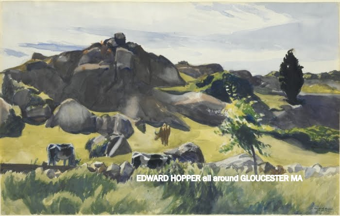 EDWARD HOPPER, oil on canvas, Yale University collection, Edward Hopper All Around Gloucester by Catherine Ryan