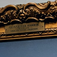 FRAME PLAQUE DETAIL Fitz Henry Lane Gloucester Harbor ©C Ryan