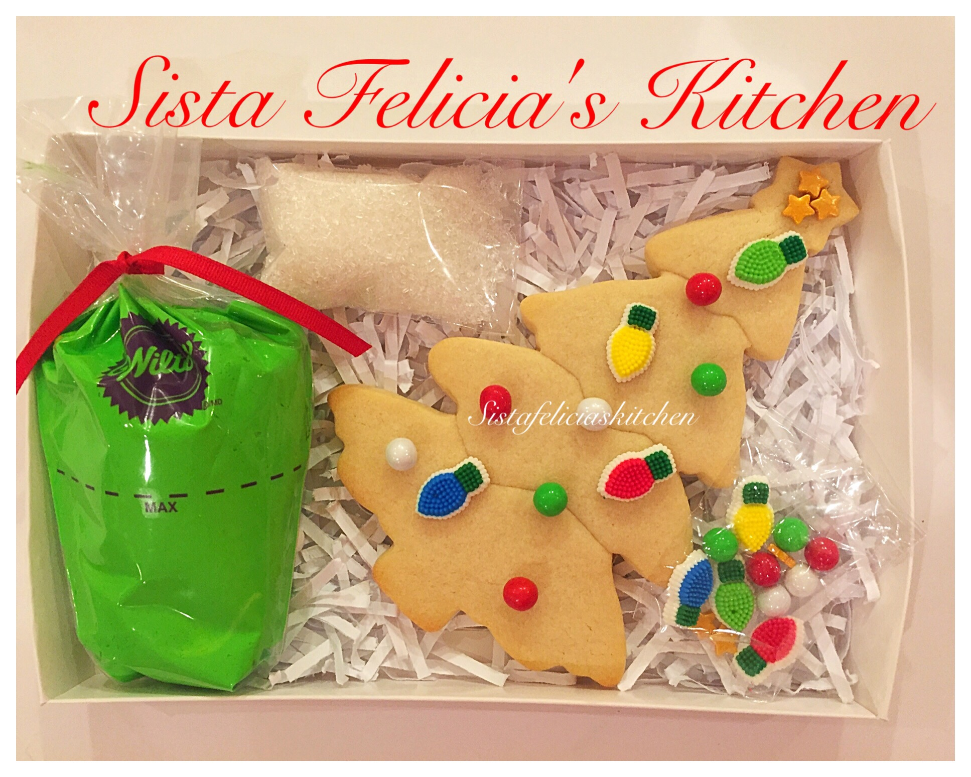 sista felicias christmas tree sugar cookie decorating kit on sale now