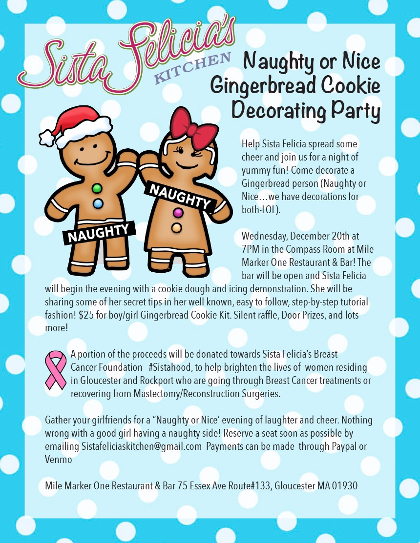 """Sista Felicia\'s 1st Annual """"Naughty or Nice"""" Gingerbread Cookie ..."""