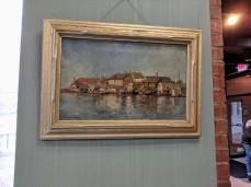 Installation View CARLTON THEODORE CHAPMAN Gloucester Harbor painting Sawyer Free Public Library ©C Ryan IMG_111321