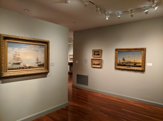 Installation View- Fitz Henry Lane Gloucester Harbor from Sawyer Free collection now installed at Cape Ann Museum ©C Ryan IMG_125125