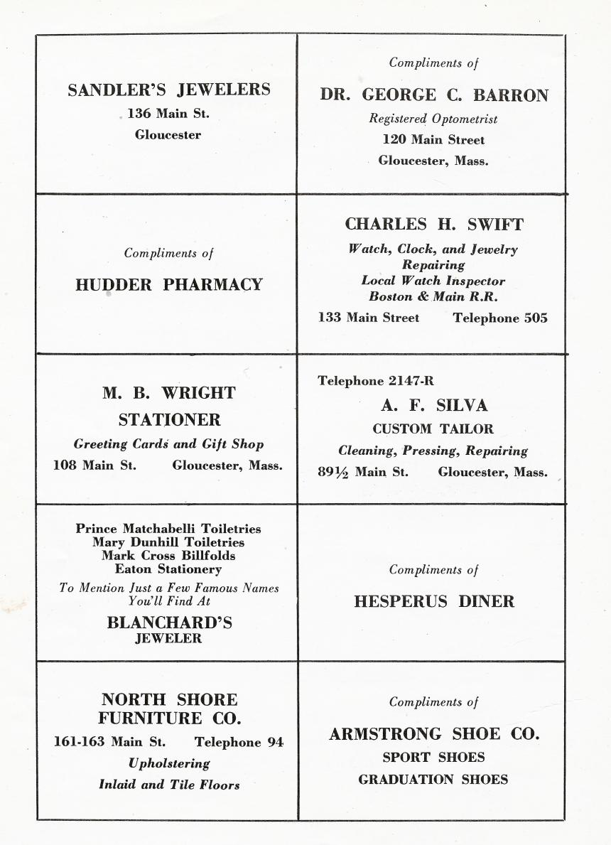 1947 yearbook ads