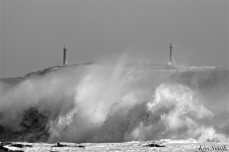Backshore Waves Twin Lights Bombcyclone Gloucester MA copyright Kim Smith