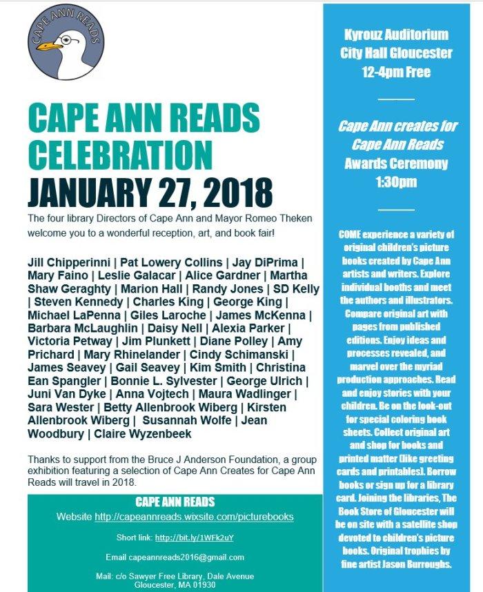 Cape Ann Reads invitation for aritsts and writers