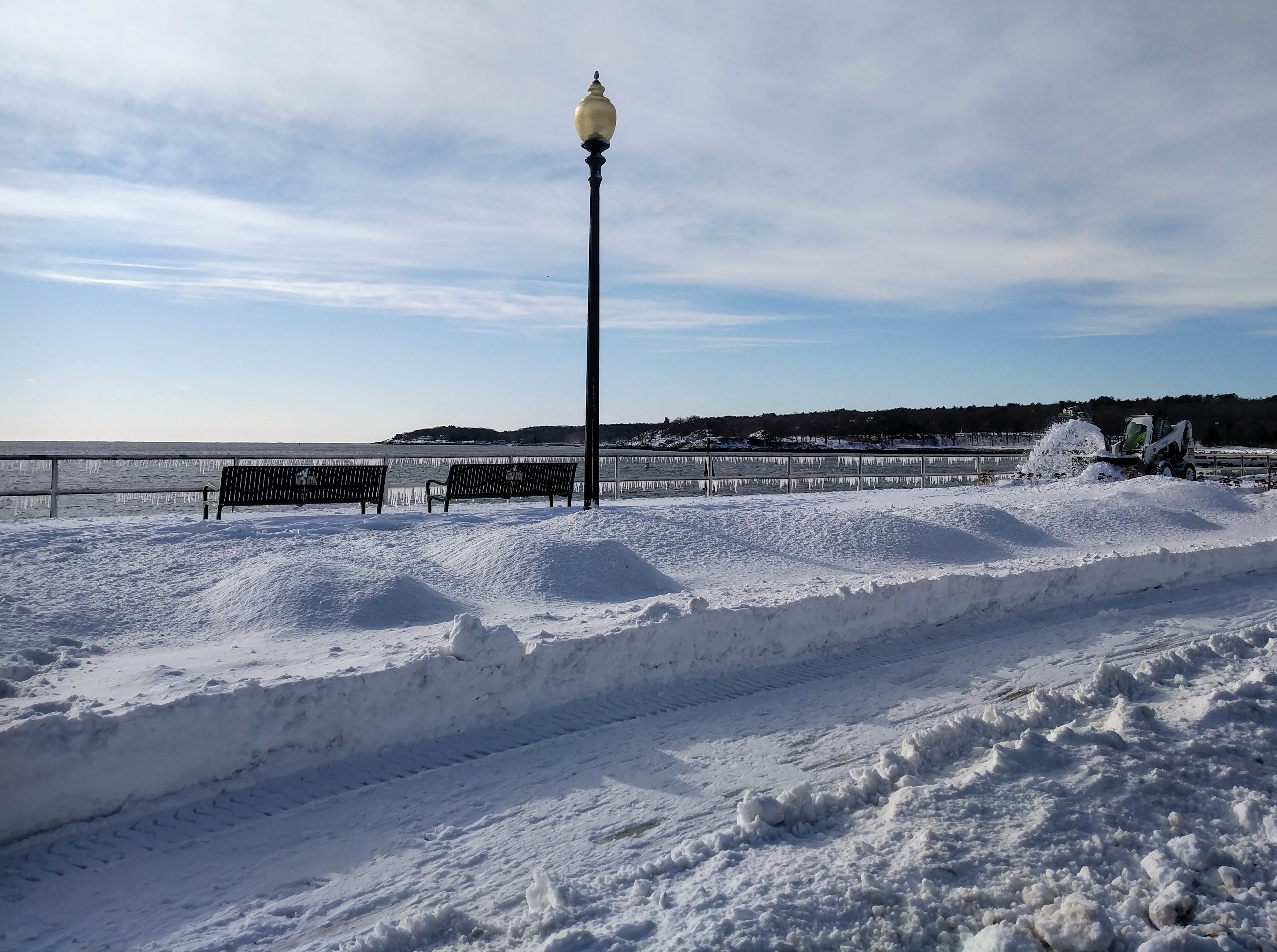 CLEAN UP AFTER STORM Stacy Boulevard sidewalk snow plow on ocean path GLOUCESTER MA.jpg