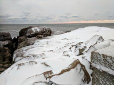 coated icy coastal rocks GLOUCESTER MA morning after blizzard IMG_20180105_072351 ©c ryan