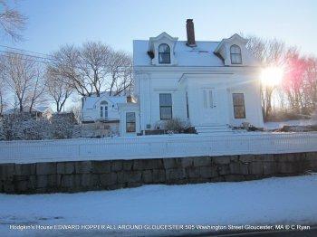 EDWARD HOPPER all around Gloucester Hodgkin's House 505 Washington Street GLOUCESTER MA© c ryan