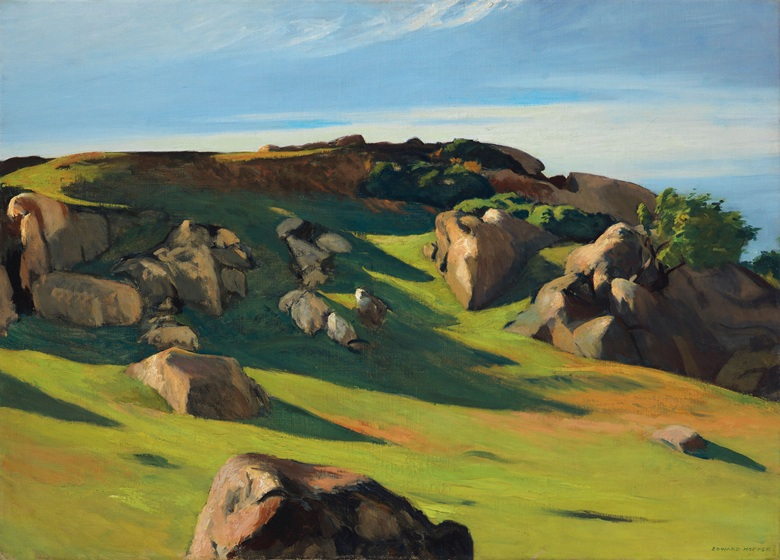 Edward hopper Cape Ann Pasture ©Christies photograph 2017