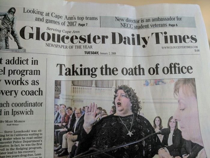 Gloucester Daily Times Inauguration Celebration 2018 Ray Lamont article.jpg