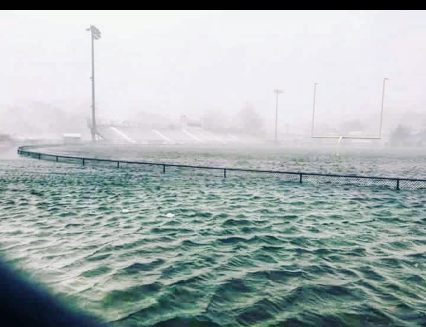gloucesterMA newell stadium flooded Jan 4 2018