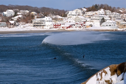 Good Harbor Beach surfers Bombcyclone Gloucester MA copyright Kim Smith