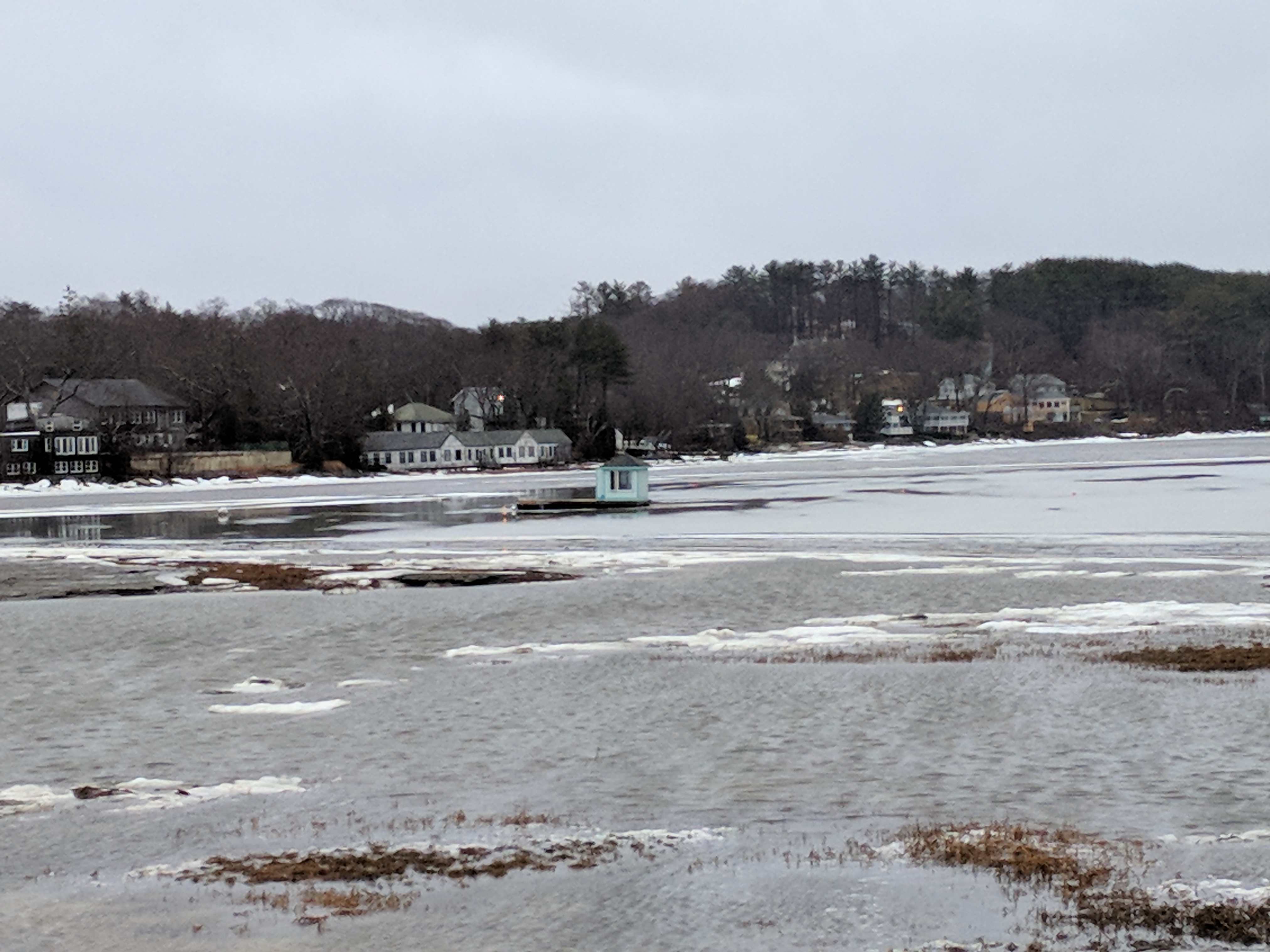 Little house boat in the great salt marsh - Gloucester MA January 13 2018 after thaw from historic winter storm © c ryan__072700.jpg