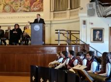 Senator Tarr speaking MAYOR ROMEO THEKEN inauguration jan 1 2018 IMG_20180101_133805