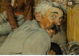 Detail from Norman Rockwell Blacksmith's Boy Hell and Toe for Nov 1940 Saturday Evening Post, Collection Berkshire Museum to be sold at Sothebys