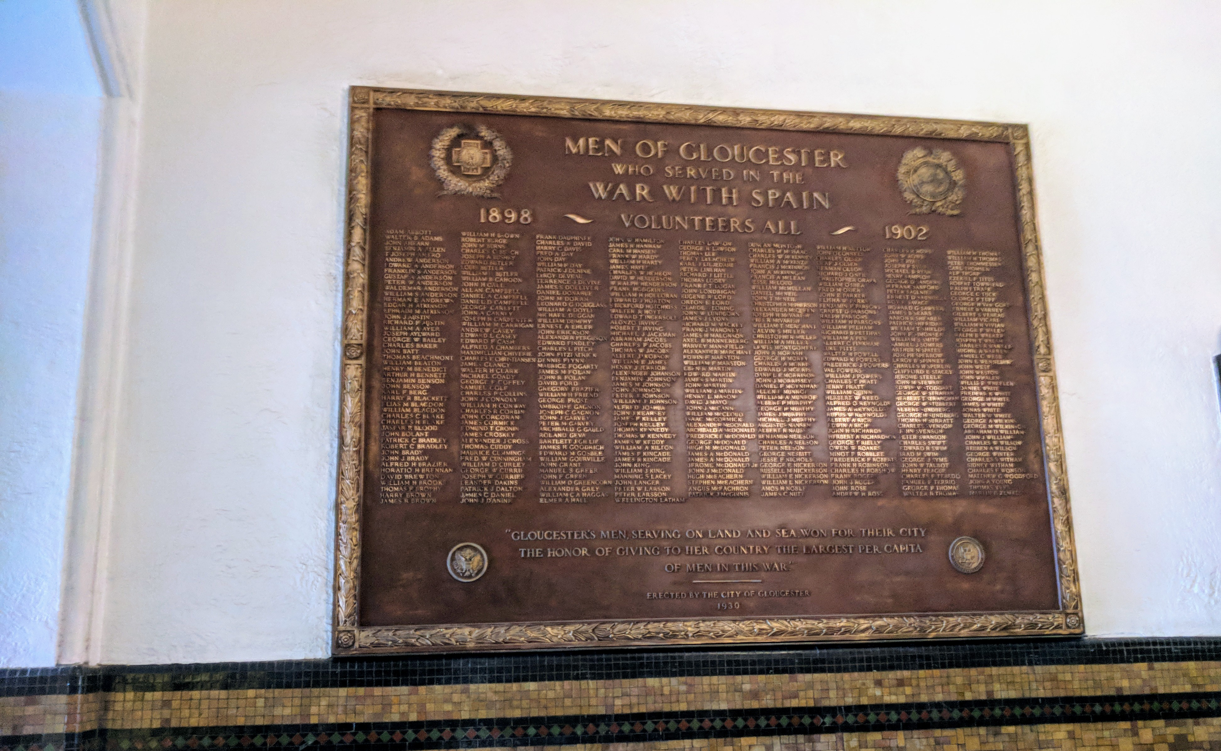 Honor Roll War with Spain City Hall cleaning needs to be redone  ©c ryan 20180221_095556.jpg