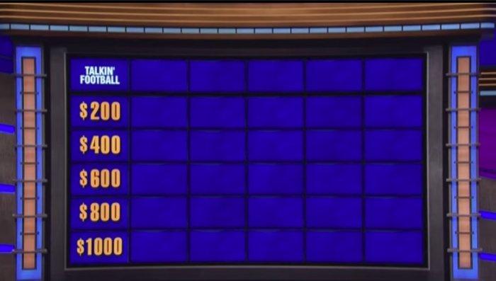 Jeopardy Talkin Football clip superbowl 2018