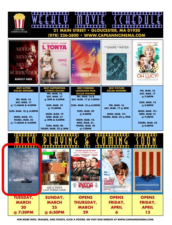 Cape Ann Cinema Dead in Water
