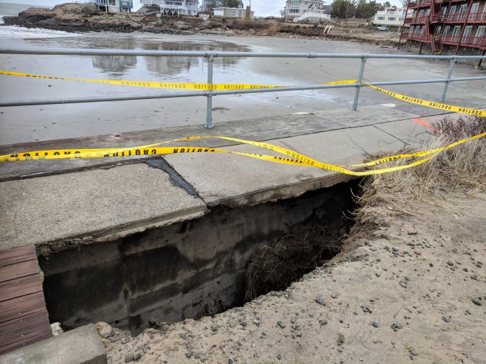 Guts of seawall exposed Winter Storm Riley March 4 2018 Gloucester MA Long Beach ©C Ryan _151948 (47)