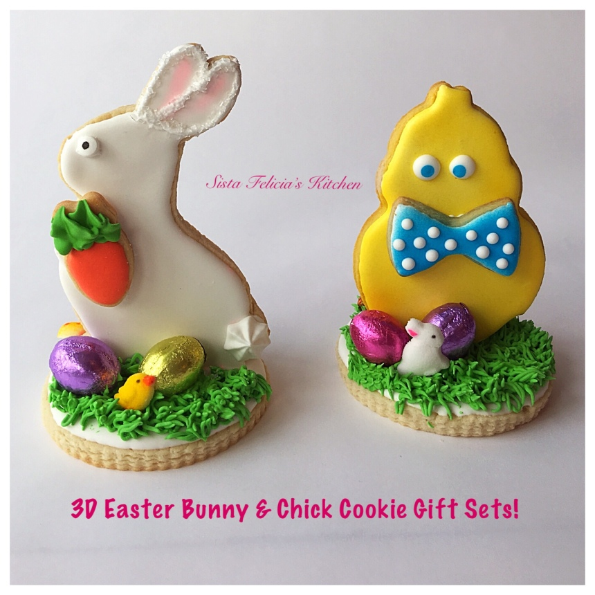 Sista felicias kitchen easter cookie gift sets on sale now 3d easter bunny basket negle Images