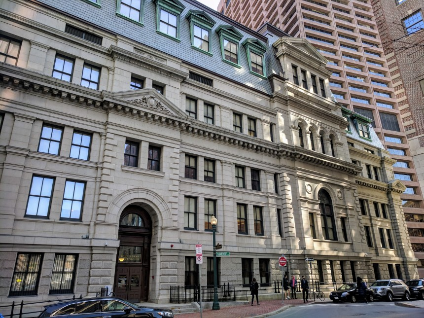 John Adams Courthouse Superior Court Boston MA - back entrance - side nearest State House 20180301_© C Ryan