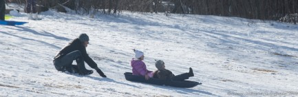 March 14, 2018 sledding on a snow day