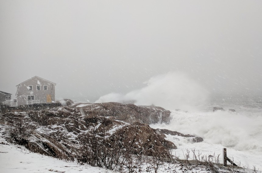 Nor'easter March 13 2018 Gloucester MA before high tide ©c Ryan_091734
