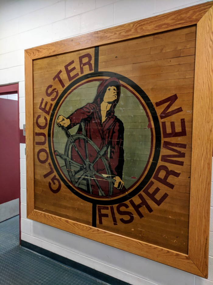Public art repurposed GHS floor fishermen logo Gloucester MA high school ©c ryan_20180110_150616.jpg