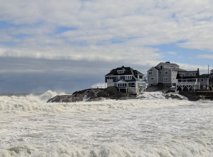 Riley Nor'easter winter storm battering Gloucester MA Long Beach fifth high tide again© c ryan March 4 2018_123048 (3)