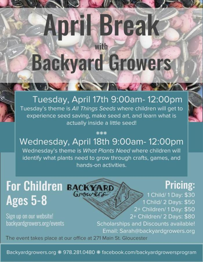 April Break 2018 Flyer