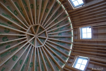 Briar Barn Inn construction detail ceiling -4 April 2018 copyright Kim Smith