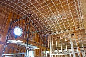 Briar Barn Inn construction detail ceiling April 2018 copyright Kim Smith