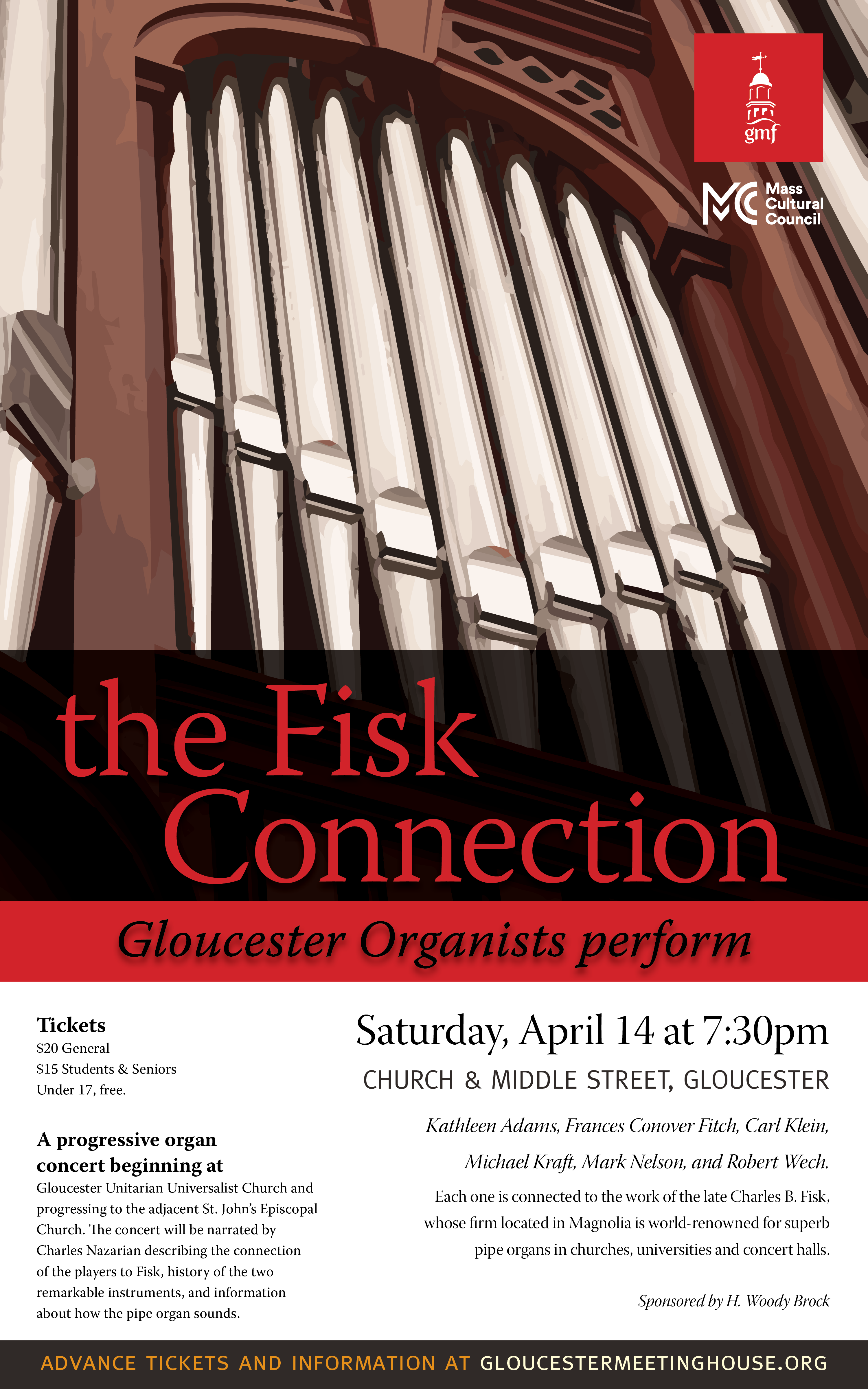 Fisk Connection Organ Concert Poster