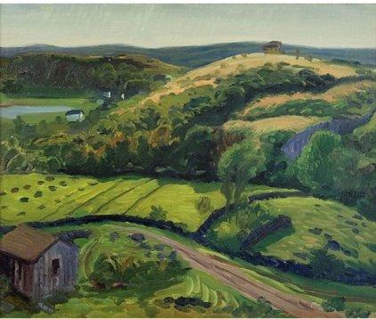 John Sloan 1916 Dogtown Valley in the Sun