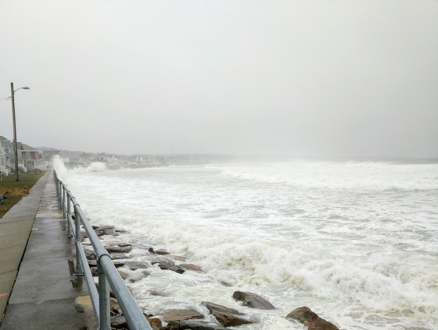 LONG BEACH seawall every wave forced up Spring storm more high tides wind flooding Apri 16 2018 Gloucester MA ©c ryan 123203 (5)
