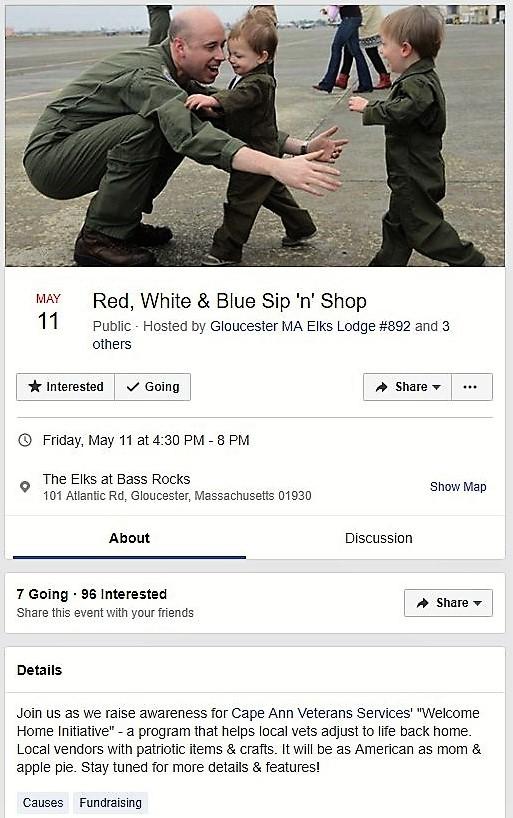 Red, White & Glue Sip 'n' Shop
