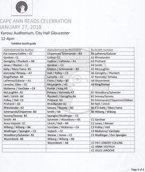 cape ann reads exhibitor list001