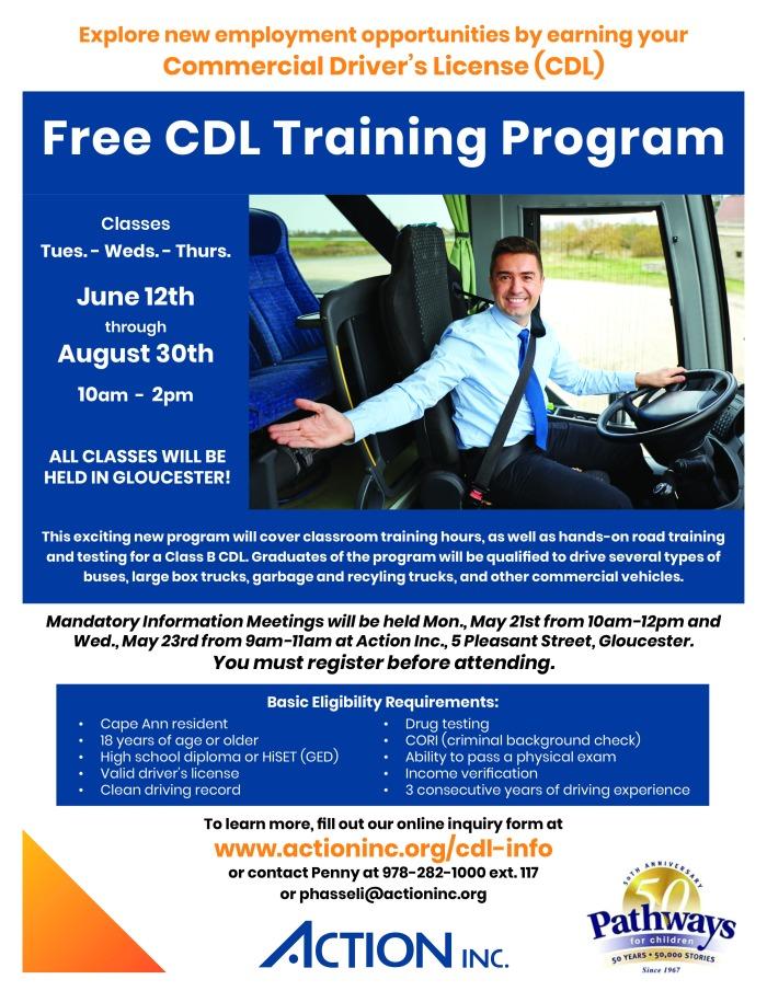CDL Training Flyer Summer 2018