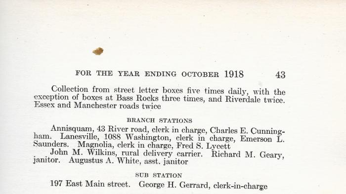 Mail deliveries Gloucester City Directory 19170001