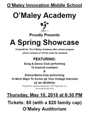 O'Maley Academy O'Maley Innovation Middle school afterschool program benefit