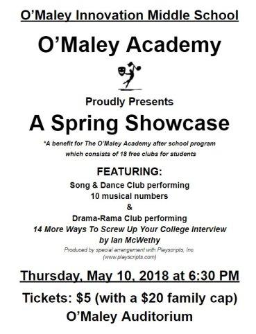 O'Maley Academy O'Maley Innovation Middle school afterschool program benefit