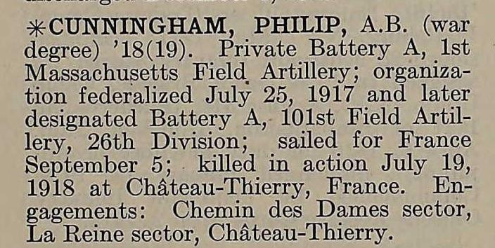 Philip Cunningham Harvard's Military