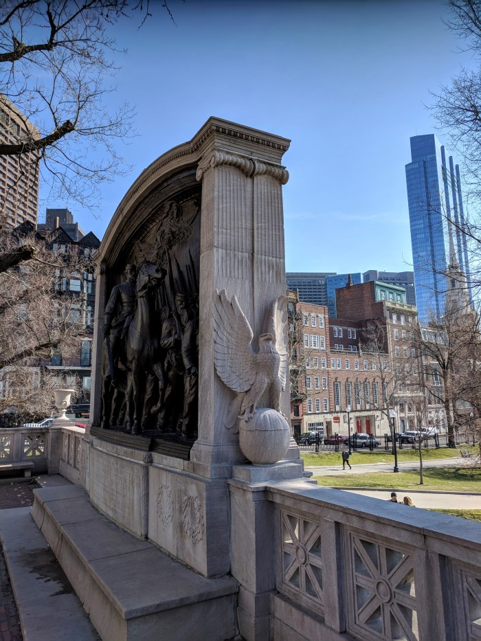 Robert Gould Shaw Massachusetts 54th Regiment memorial Boston Commons by Augustus Saint Gaudens_dedicated 1889 ©c ryan 2018 March 1_ (3)