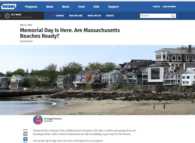 WGBH radio interview Gloucester and Rockport DPW are MA beaches ready