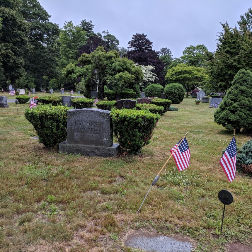 Byron Brooks_ WWII veteran, Coast Guard_ Artist_Gloucester resident_ born in Manchester_grave Pleasant Grove Cemetery Manchester MA_20180628_072316 ©C Ryan (3)