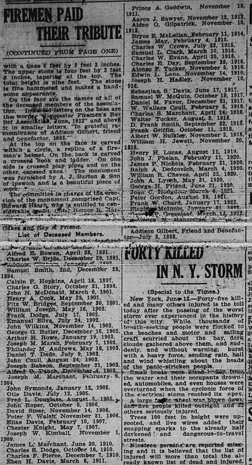 Deceased Firemen GDT June 12 1922