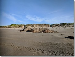 Glacial rock unearthed after winter storms Good Harbor Beach Gloucester MA looks like Wingaersheek beach_20180617_064006 © c ryan